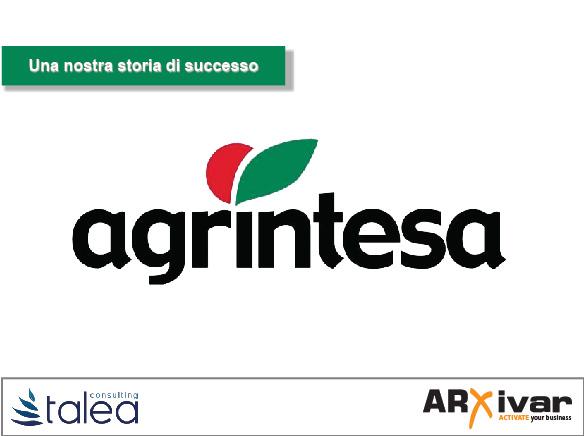Fatturazione elettronica attiva e passiva nel settore alimentare | ARXivar per Agrintesa